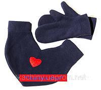 Варежки  для влюбленных синие, фото 1