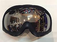 Очки горнолыжные черные (двойные линзы)