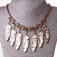 [45 мм] Ожерелье 7 перьев ювелирный сплав Gold