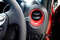 Nissan Juke 2011-17 красные накладка в салон на торпеду воздуховоды салона Новые Оригинал