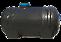 Емкость непищевая горизонтальна черная (цилиндрическая) 125л