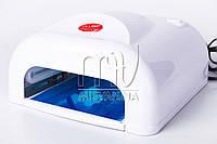 УФ лампа для ногтей 36 Вт индукционная с вентилятором ProMex (белая)