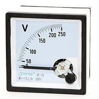 Вольтметр 0 - 250В панельный щитовой 72х72 мм стрелочный цена переменного ток шкаф фото