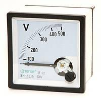 Вольтметр 0 - 500В панельный щитовой 72х72 мм стрелочный цена переменного ток шкаф фото, фото 1