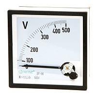 Вольтметр 0 - 500В панельный щитовой 96х96 мм стрелочный цена переменного тока шкаф фото, фото 1