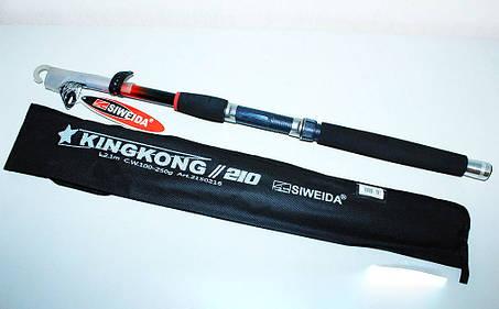 Спиннинг телескопический «SWD» KING KONG 2.10  (test:100-250g), фото 2