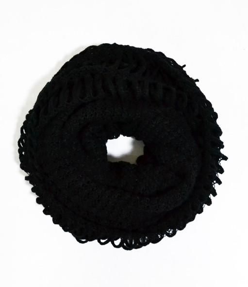 Теплий жіночий снуд 2в1, dress RL309_черн