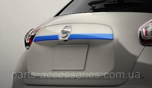Nissan Juke 2011-2017 голубая накладка на багажник Новая Оригинал