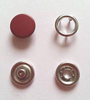 Кнопка 9,5 мм матовая № 1 - бордовая