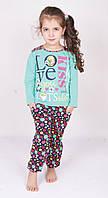 Пижама подростковая со штанами в горошек