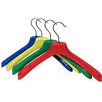 Цветные вешалки плечики пластик 38см для женской одежды