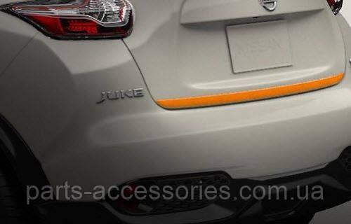 Nissan Juke 2011-17 накладка на багажник нижняя оранжевая Новая Оригинал