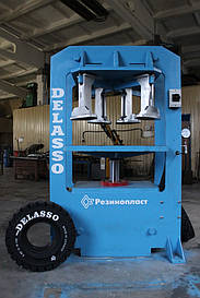 Пресс для монтажа цельнолитых шин типа гусматик (оборудование монтажа цельнолитых шин Delasso)
