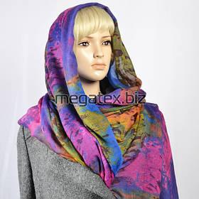 Марлевка ткань с рисунком для шарфов