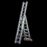 Elkop 11,4м лестница 3-х секционная профессиональная алюминиевая (VHR P 3x17)