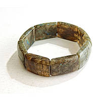 [10 см] Браслет на резинке Лабрадор прямоугольные камни