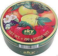 Конфеты фруктовые Fruit Candies леденцы в ж\б Sky candy 200 г.