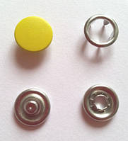 Кнопка 9,5 мм матовая № 110 - темно-желтая
