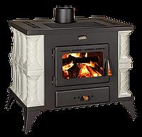 Отопительно-варочная печь на дровах с кафелем Prity K1 RK