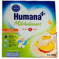Продукт кисломолочный HUMANA с персиком и натуральными пробиотиками (галактоолигосахаридами) для детей 4 шт. п