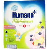 Продукт кисломолочный HUMANA с яблоком и черникой, натуральными пребиотиками (галактоолигосахаридами) 4 по100