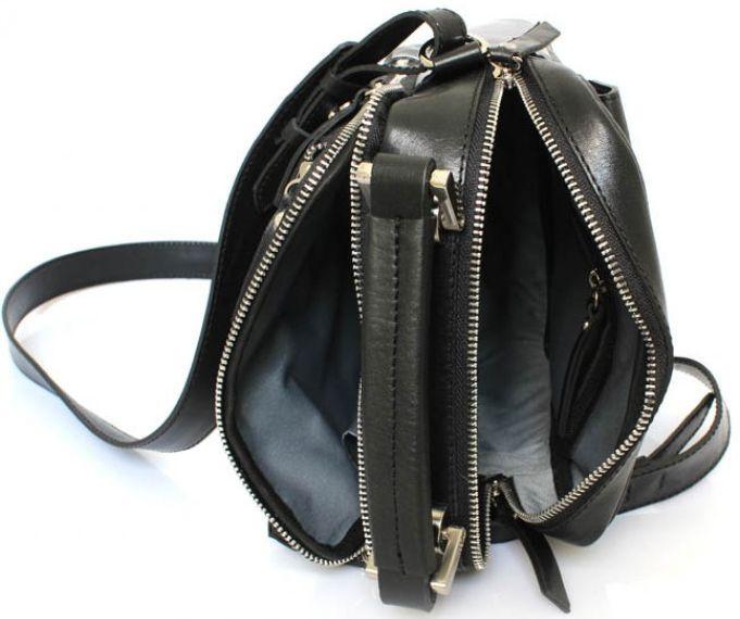 8100da796ab4 Кожаная черная сумка Crossbody Mykhail Ikhtyar 6733, цена 3 135 грн.,  купить в Киеве — Prom.ua (ID#447360615)