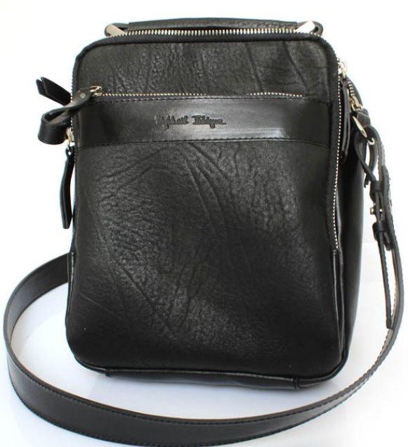Кожаная черная сумка Crossbody Mykhail Ikhtyar 6733