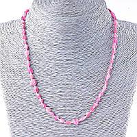 Бусы Турмалин розовый, природная форма 5-8мм, длина 48см