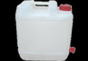 Канистра пластиковая пищевая 20 литров с краном ПБ