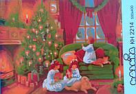 """Раскраски по номерам На холсте """"Рождественская ночь"""" КН2214 Идейка Китай"""
