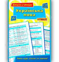 Українська мова Довідник у таблицях 7-11 класи Авт: Таровита І. Вид-во: УЛА