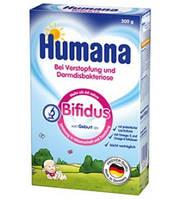 Сухая детская молочная смесь HUMANA Бифидус с пребиотиком лактулозой при запорах, дисбактериозе 300 г