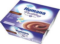 Пудинг шоколадный HUMANA для питания детей от 10 месяцев (массовая часть жира - 3,3%) 4 шт. по 100 г