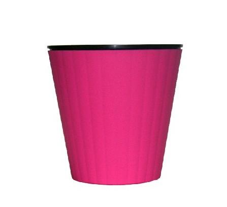 """Вазон """"Ибис"""" с двойным дном V=1,6л(d=15,7см h=13см) розовый """"Алеана"""""""