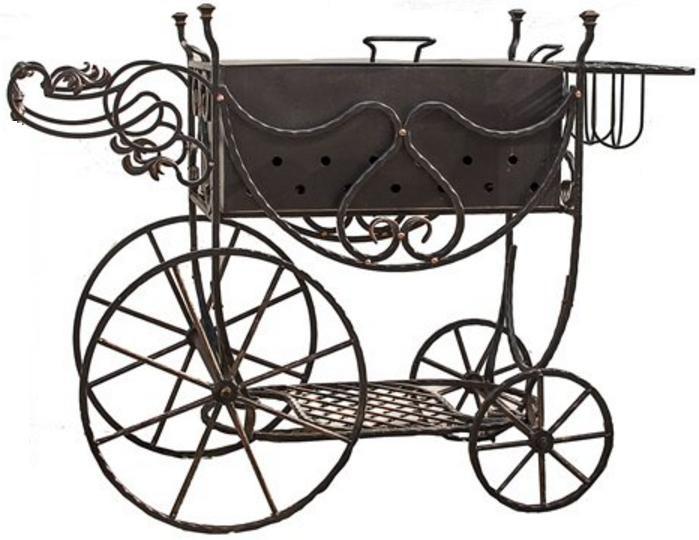 Кованый мангал на колесах - «Е-групп» - оборудование для Вашего Бизнеса в Днепре