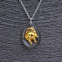 "Кулон на цепочке  ""Кабан"" 25мм, китайский гороскоп, цвет цепочки серебро"