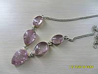 Ожерелье с натуральным камнем змеиный кварц