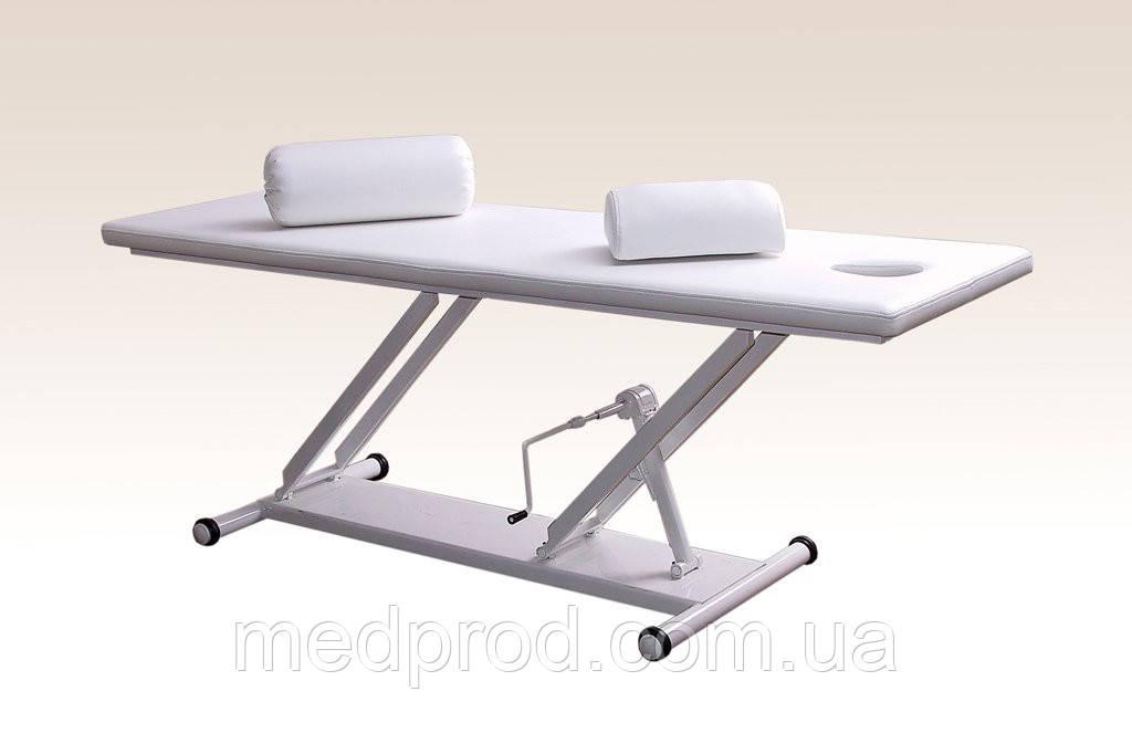 Кушетка М-1 массажная стол регулировка высоты гидравлика (базовая комплектация)