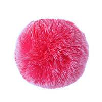 Брелок бубон  на резинке нат. мех 5 см розовый