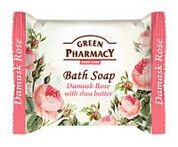 Туалетное мыло Green Pharmacy Дамасская роза с маслом ши - 100 г.