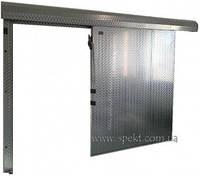 Раздвижная дверь для холодильной камеры из нержавеющей стали (классическая система разъезда)