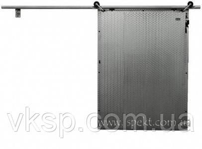 Раздвижная дверь из нержавеющей стали для холодильной камеры  (трубная система разъезда)