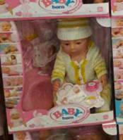 Пупс-кукла Baby Born (аналог) в вязаном комбинезоне