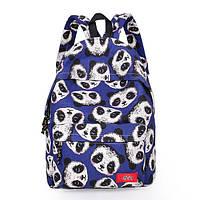 Синий городской рюкзак Панды. Художественное оформление. Приятная цена. Хорошее качество. Код: КГ58