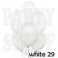 Воздушные шарики Gemar АМ50 Белый металлик,   5' (13 см) 100 шт