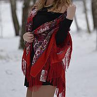 Павлопосадский платок хустка женский шерстяной высшего качества