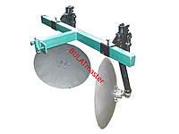 Окучник дисковый на двойной сцепке с усиленными стойками ф дисков 420 мм