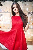 Пышное мини-платье с завышенной талией