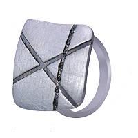 """Серебряное кольцо абстрактное из серии """"Лакшери"""" Salto Gioielli"""