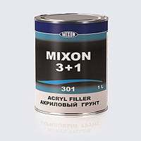 Автомобильный акриловый грунт MIXON 3+1. Желтый. 1 л Красный